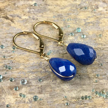 Azure Earrings/ Gold