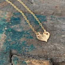 Heart Necklace / Hammered / Small