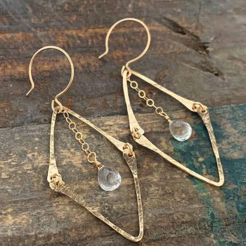Florence Earrings / Clear Quartz