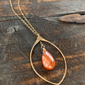 Eden Necklace/ Leaf- Orange
