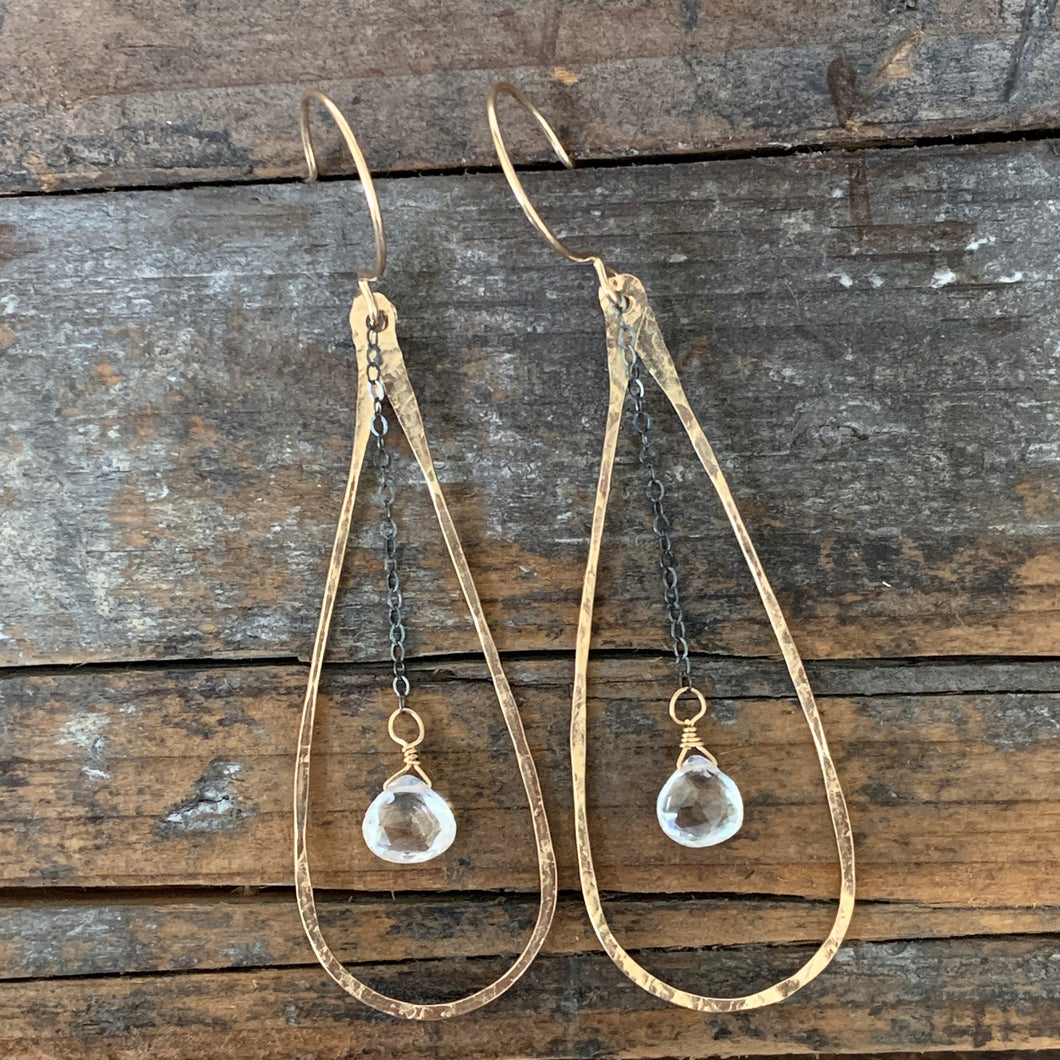 Mirage Earrings /Quartz