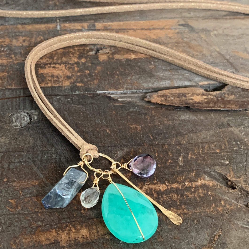 Dakota Necklace / Aqua