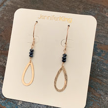 Quest Earrings / Open Teardrop • Black