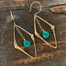 Florence Earrings / Green