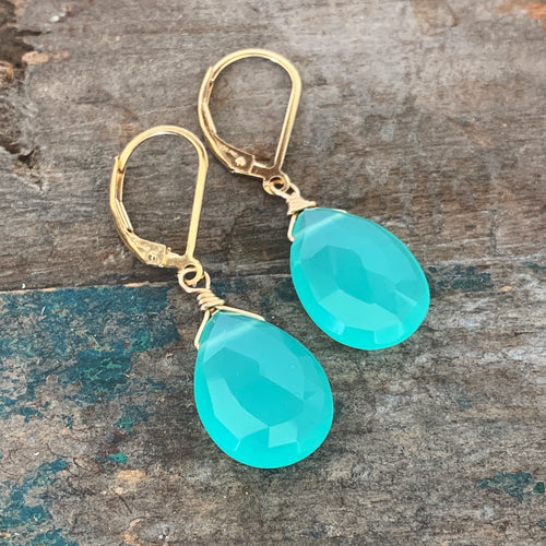Aruba Earrings / Aqua