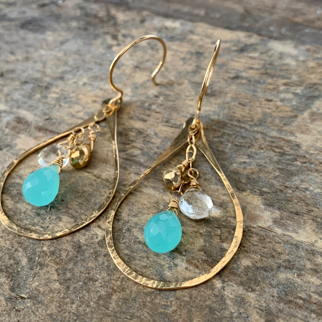 Bella Earrings / Aqua