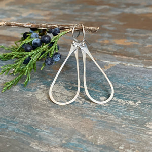 Silver Teardrop Earrings - Small