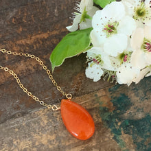 Allie Necklace / Orange