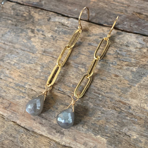 Maria Earrings/ Grey