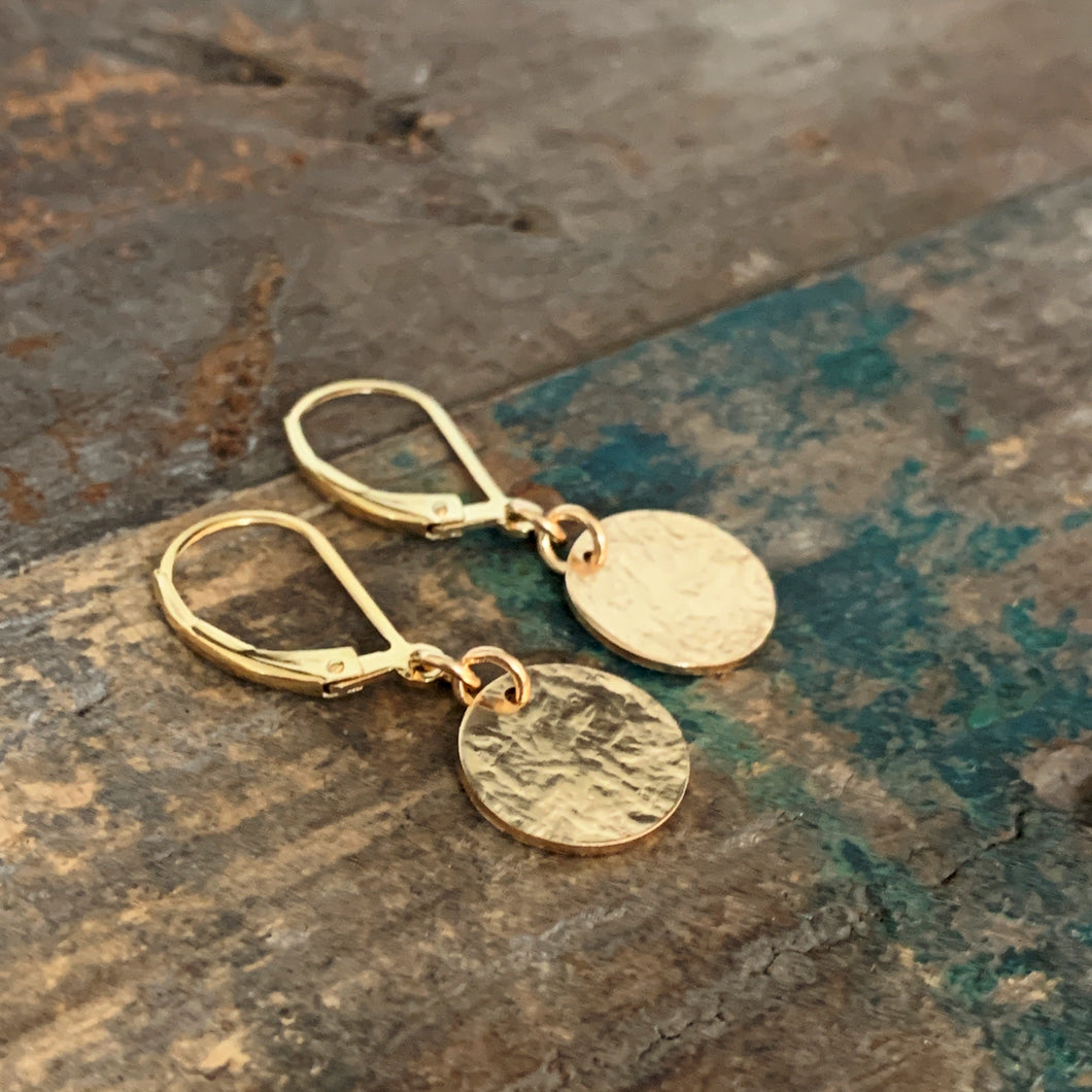 Golden Disk Earrings