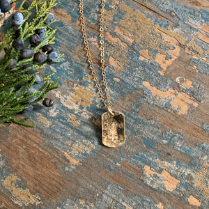 Evergreen Tag Necklace