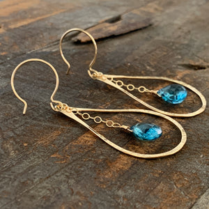 Mirage Earrings / London Blue