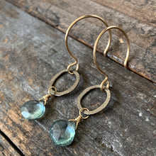 Sarina Earrings / Gunmetal + Green