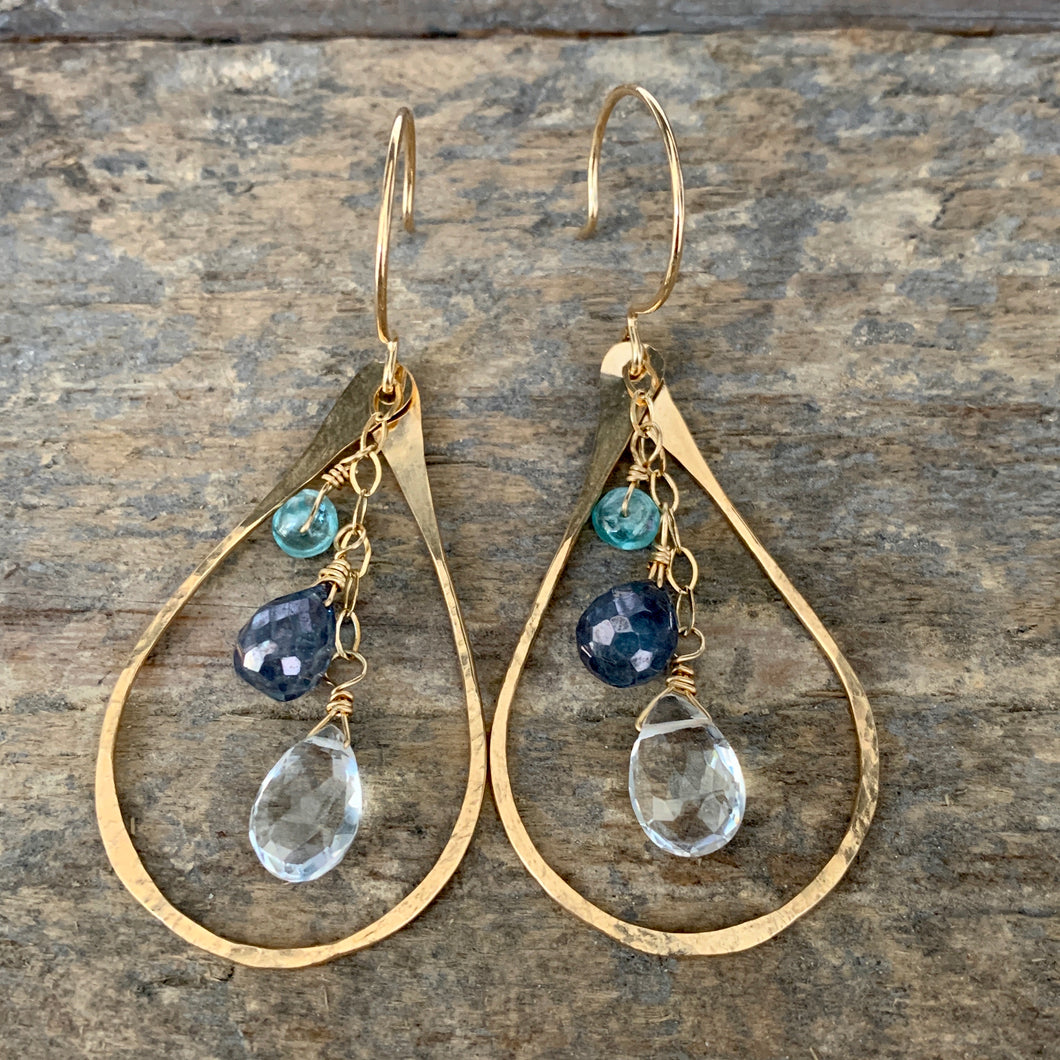 Bella Earrings / Clear