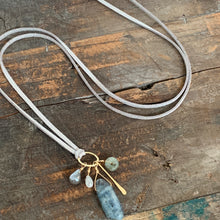 Dakota Necklace / Silver+Blue