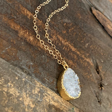 Druzy Necklace / Teardrop