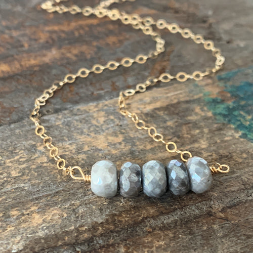 Ava Necklace - Moonstone