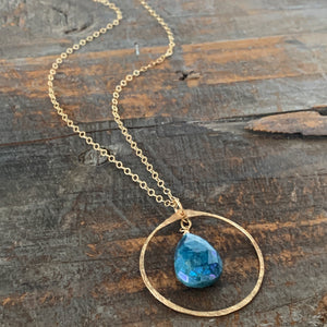 Eden Necklace/ Circle- Blue