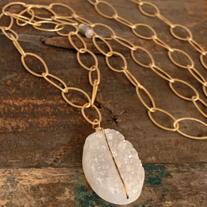 Zion Necklace/ Quartz Druzy