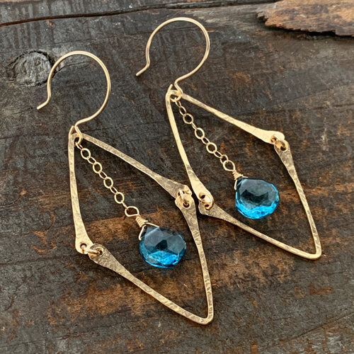 Florence Earrings / London Blue