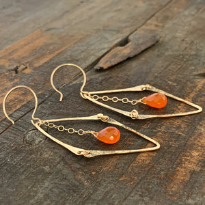 Florence Earrings / Orange