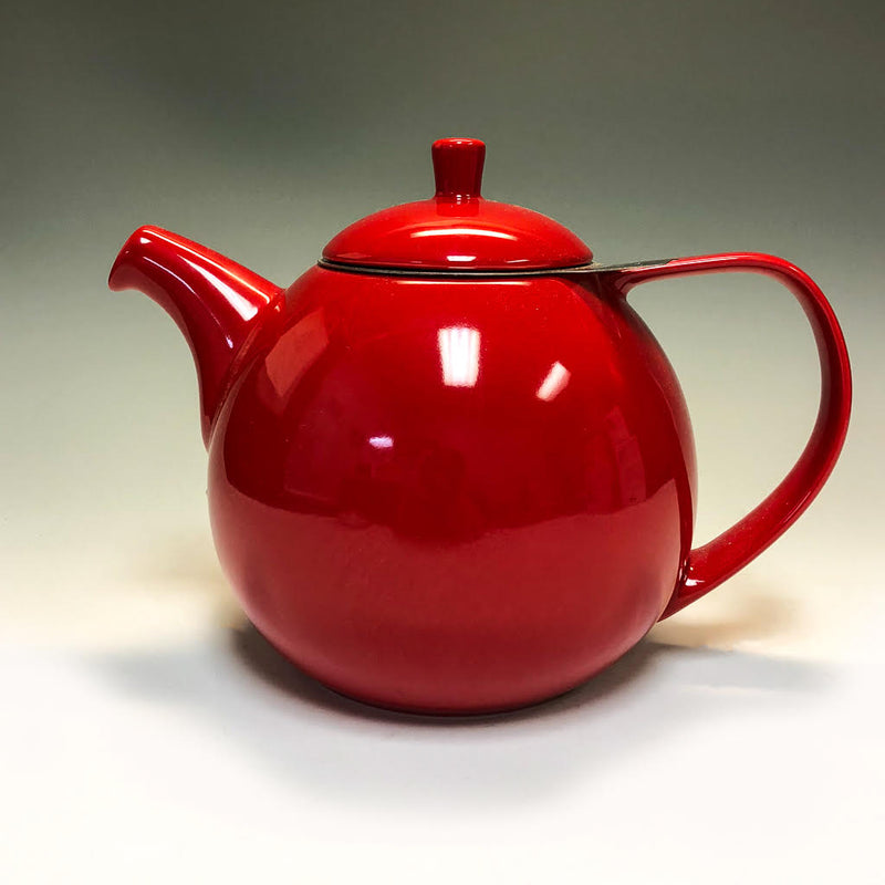 Ceramic Teapot With Stainless Steel Infuser - Tea and Chi