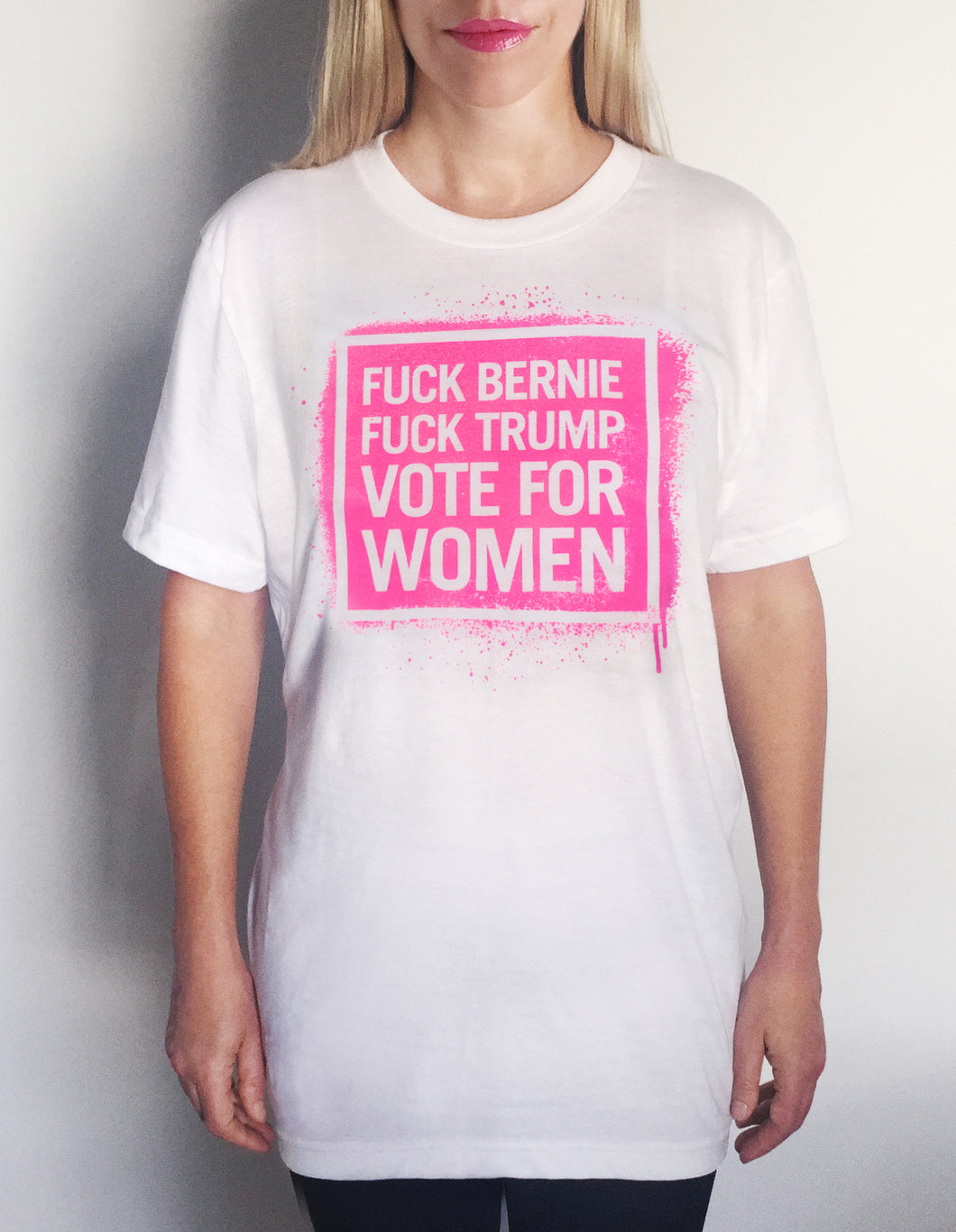 Vote For Women Unisex T-Shirt, Neon Pink