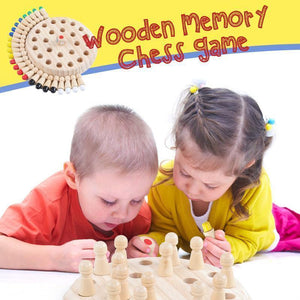 Wooden Memory Chess Game-( Buy 3 get free shipping )