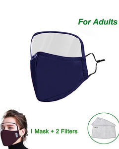 Outdoor Face Protective Mask With Eyes Shield