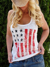 Load image into Gallery viewer, 4th Of July  American Flag Tank Top