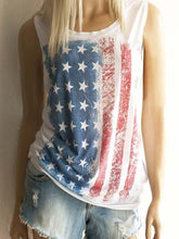 Load image into Gallery viewer, Women's American Flag Print Vest