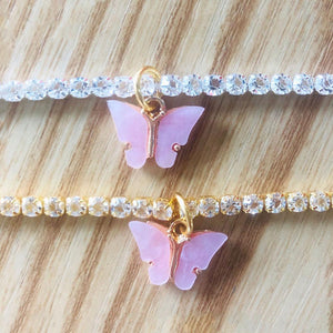 Butterfly Rhinestone Anklet
