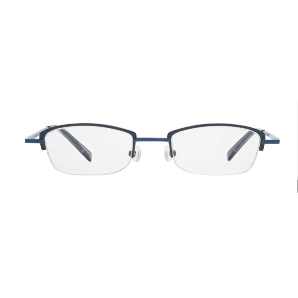 rimless reading glasses blue