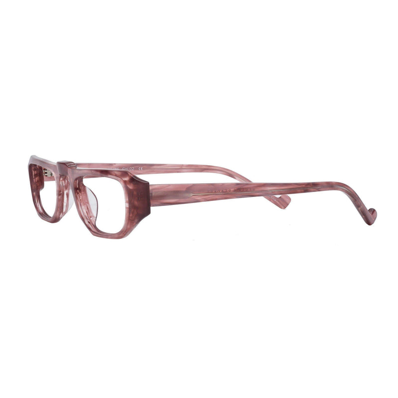 half-frame reading glasses salmon pearl