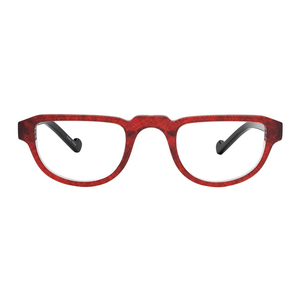 half frame readers modern red black
