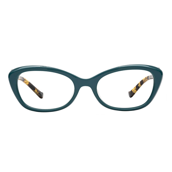 womens quality readers teal light tortoise