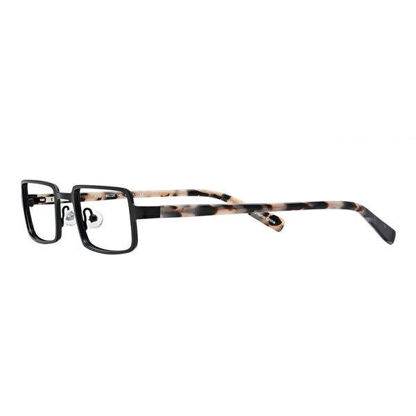 optical quality reading glasses small size matte black