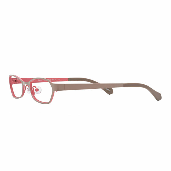 petite reading glasses optical quality beige pink