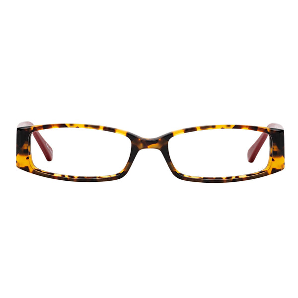 Half-Eye Readers Tortoise Crimson Red