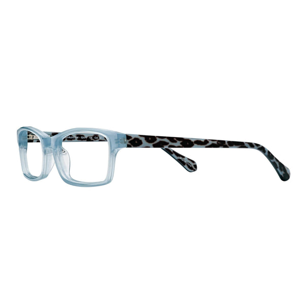 women's quality reading glasses blue leopard