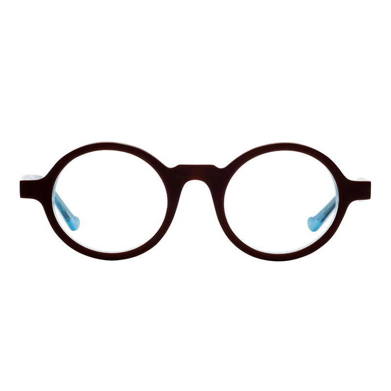 best quality reading glasses round frames brown blue