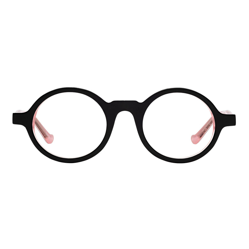 best quality reading glasses round frames black pink