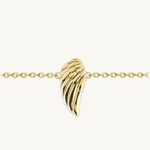 Image of Guardian Angel Wing Charm Bracelet