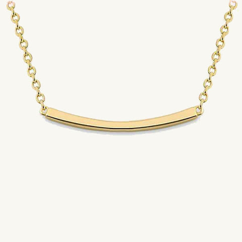 Horizontal Bar Pendant Necklace