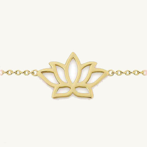 Image of Lotus Flower Charm Bracelet
