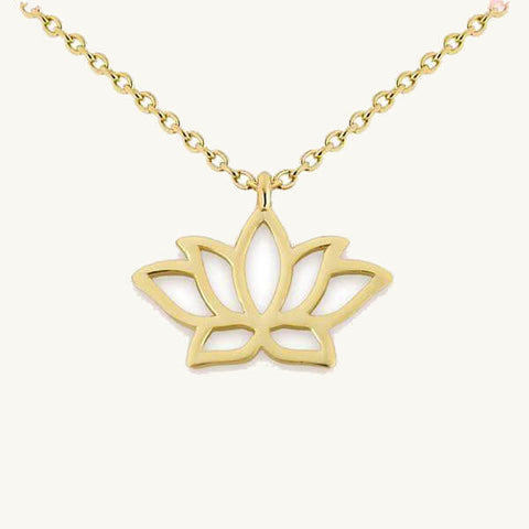 Image of Lotus Flower Pendant Necklace