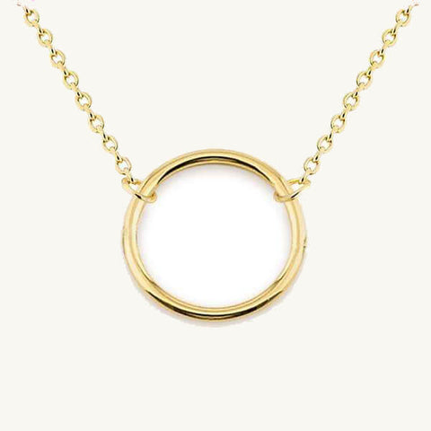 Image of Open Circle Pendant Necklace