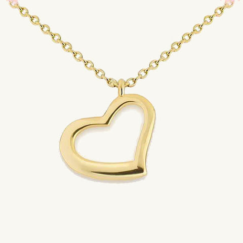 Image of Open Heart Pendant Necklace