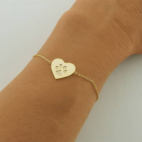 Image of Paw Print Heart Charm