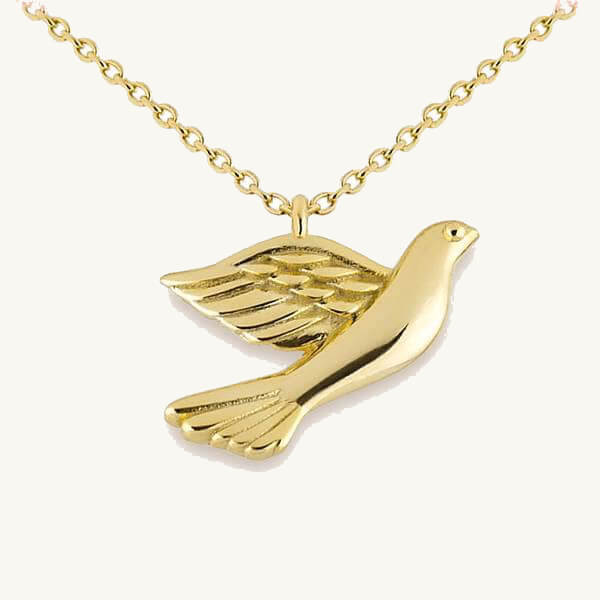 Peace Dove Pendant Necklace